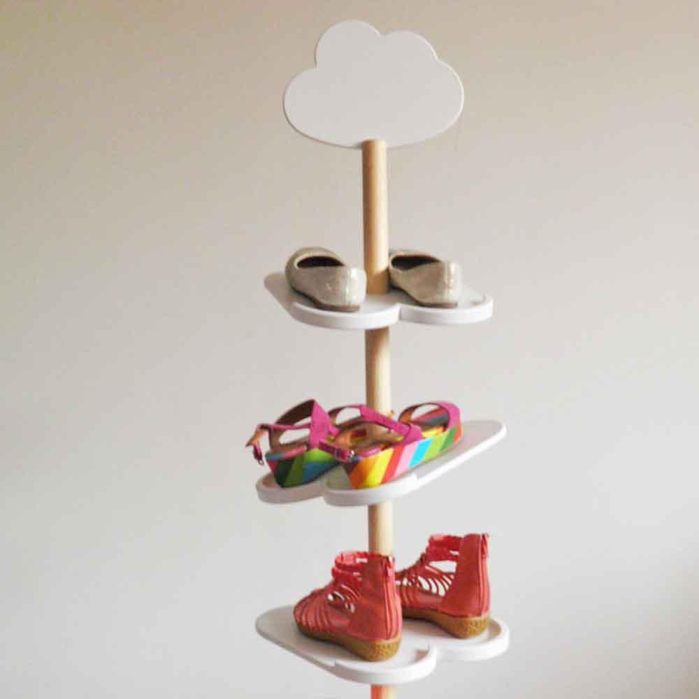 drveni stalak za obuću, dečji nameštaj